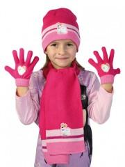 Dívčí souprava čepice, šály a rukavic č.1