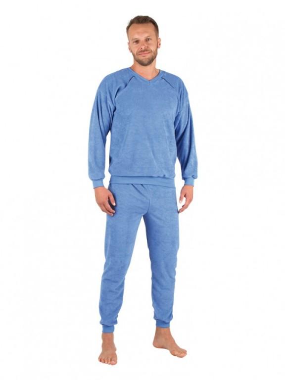 Pánské froté pyžamo P 1427 modré