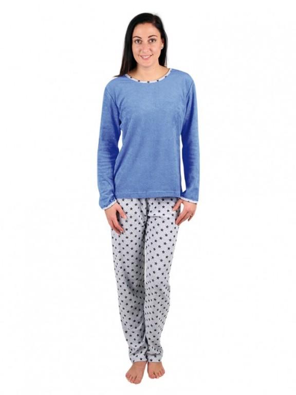Dámské froté pyžamo P 1422 modré
