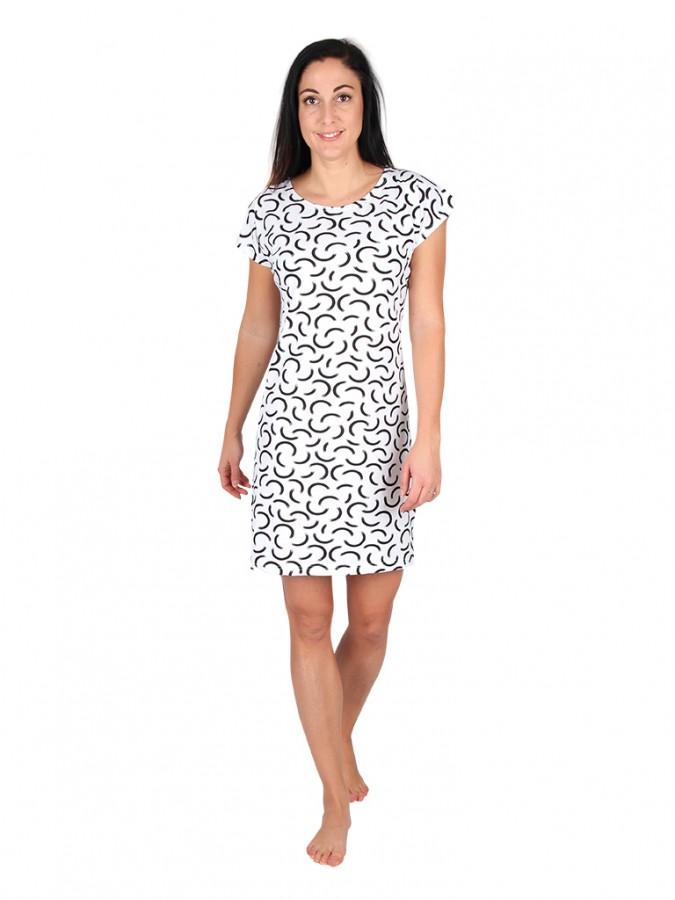 Dámské krátké šaty TEMPESTA půlkruhy  411552aafb