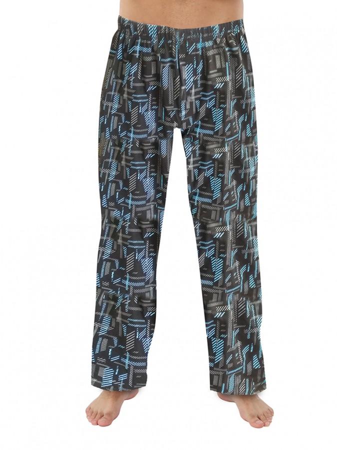 d6d8cec988cd Pánské pyžamové kalhoty P1419 černo-tyrkysové